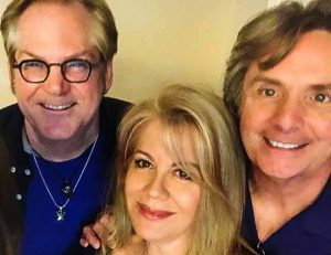 John with Harry Stinson and Beth Hooker